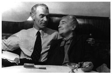 Lev Knipper y su tía Olga