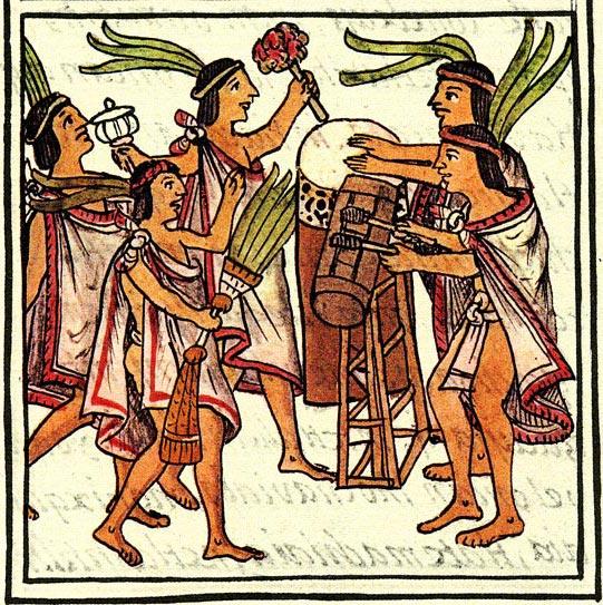 -Aztec_drums,_Florentine_Codex