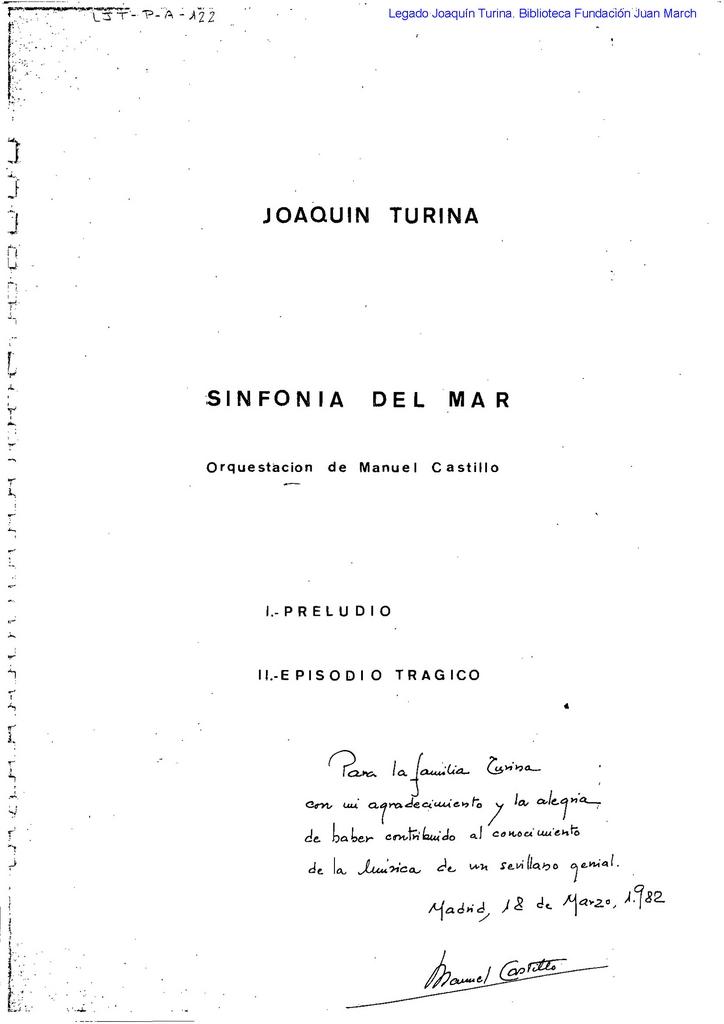 Turina Sinfonía mar