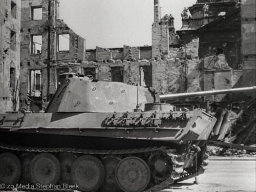 Munich, Mai 1945. Abandoned Tank at Karlsplatz - Stachus