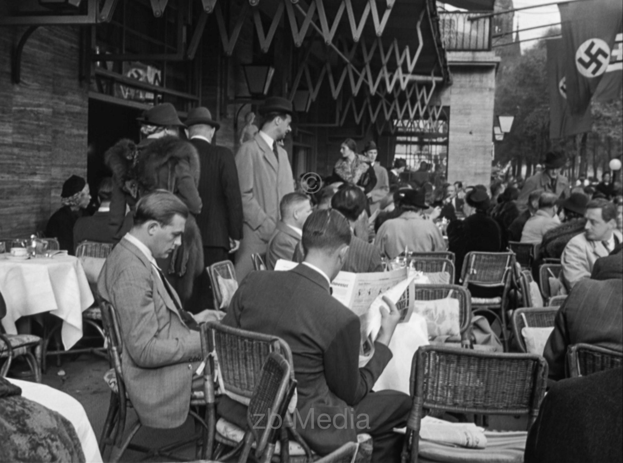 Deutschland 1937, Café Kranzler, Berlin