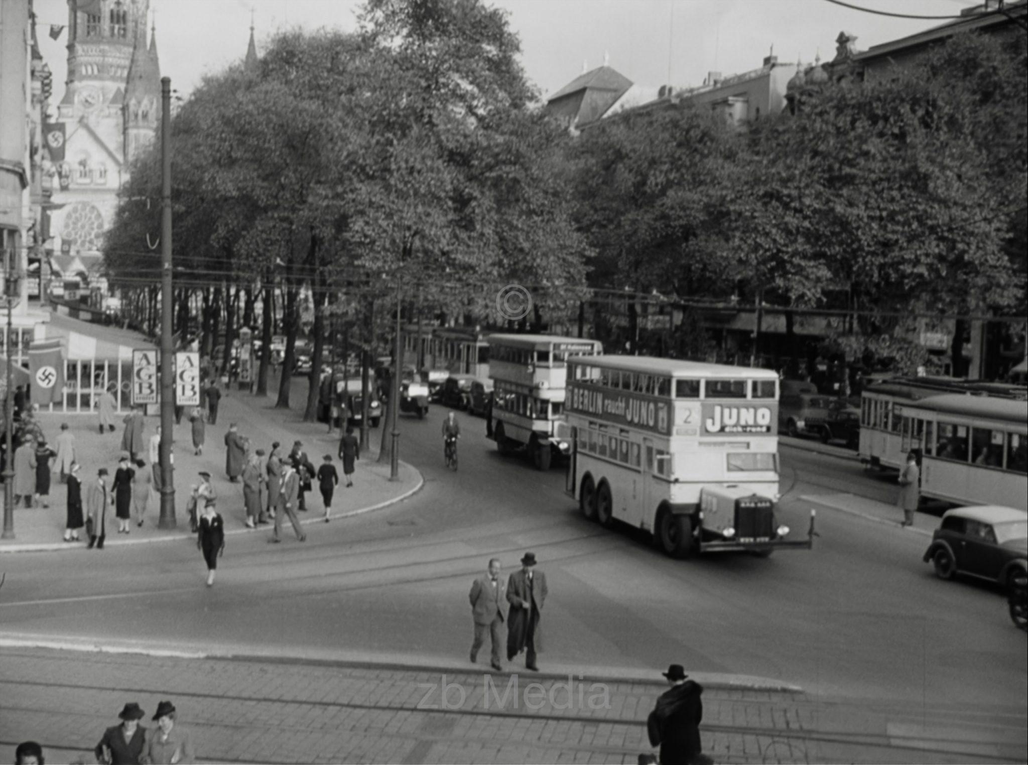 Deutschland 1937, Kurfürstendamm Berlin