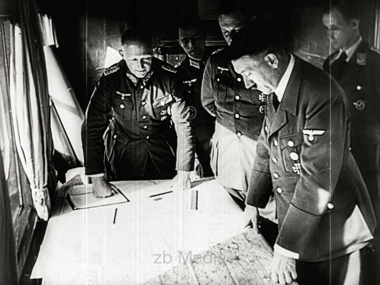 Hitler et les généraux au début de la guerre en 1939