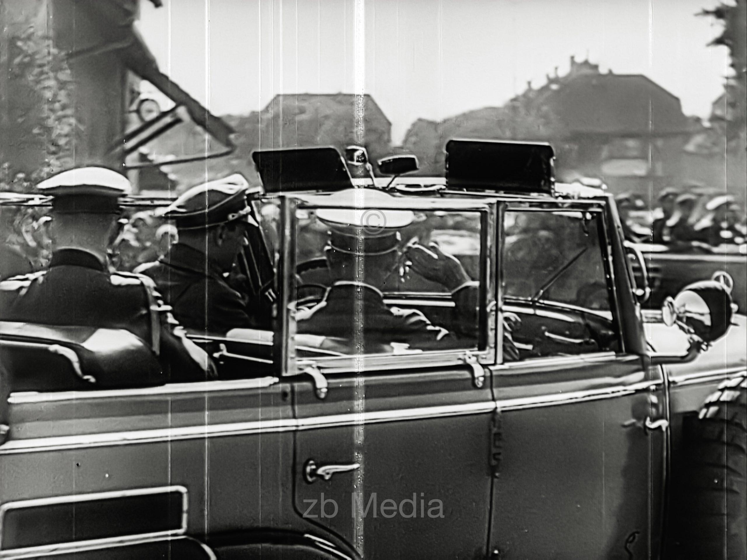 Hitler in command car, 1 September 1939