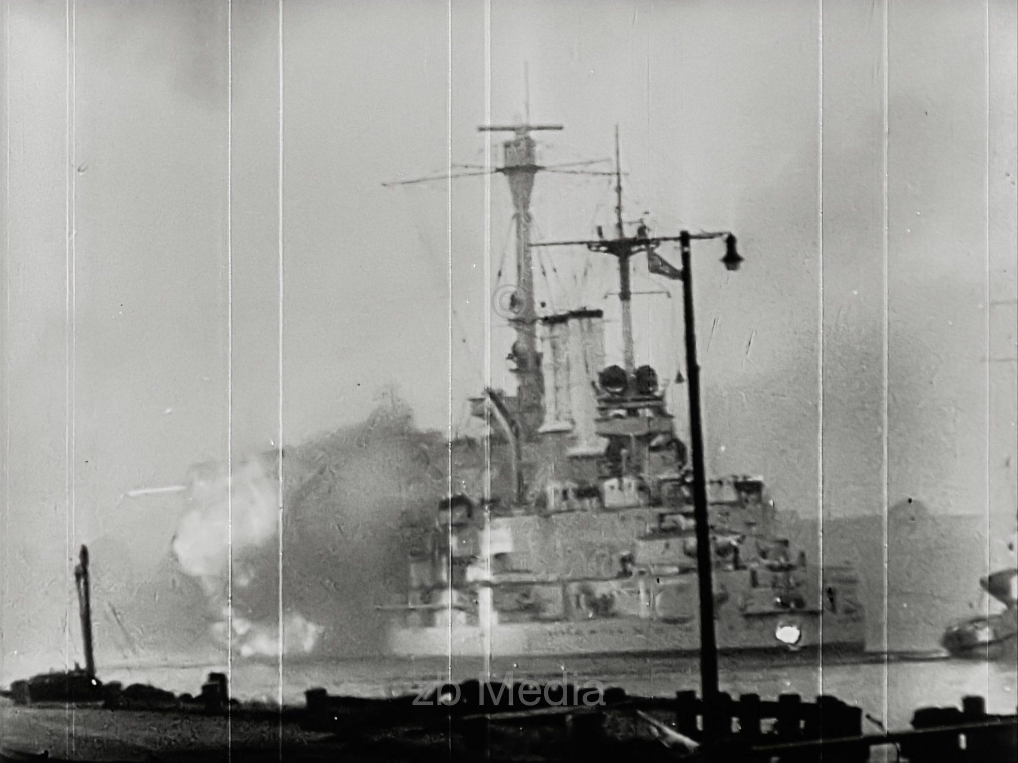 Start of the war 1939 - bombardment of Westerplatte