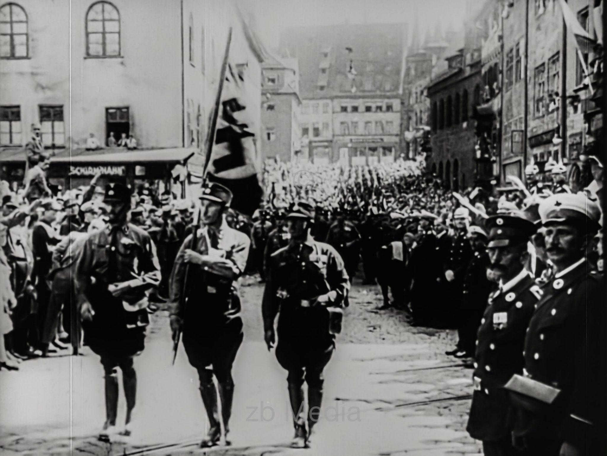 NSDAP Parteitag Nürnberg 1929; Aufmarsch
