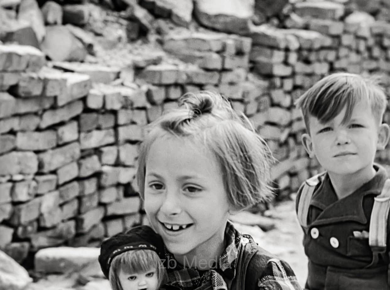 Playing children, Berlin, Germany 1946
