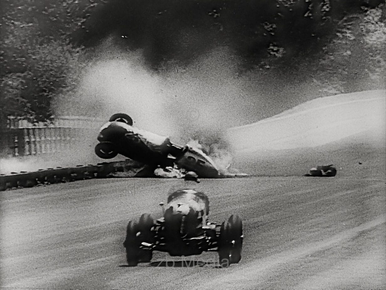 Accident at car race 1936