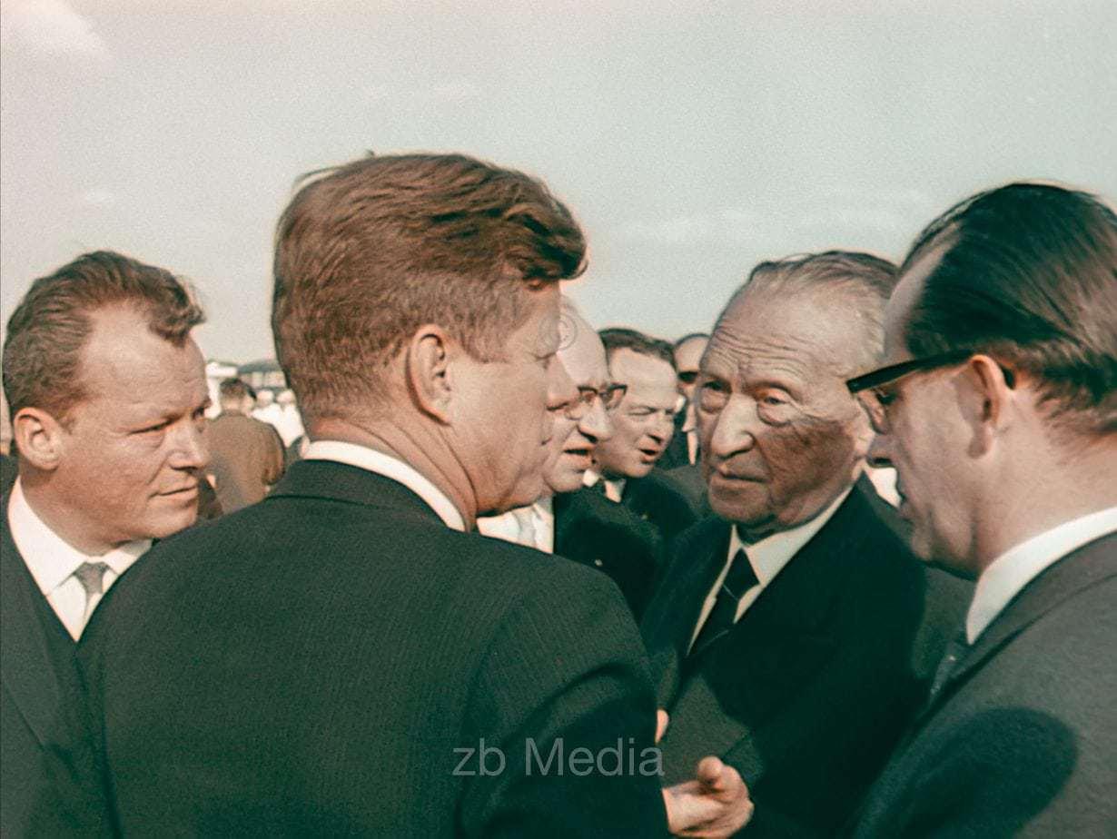 Präsident John F. Kennedy Deutschlandbesuch 1963