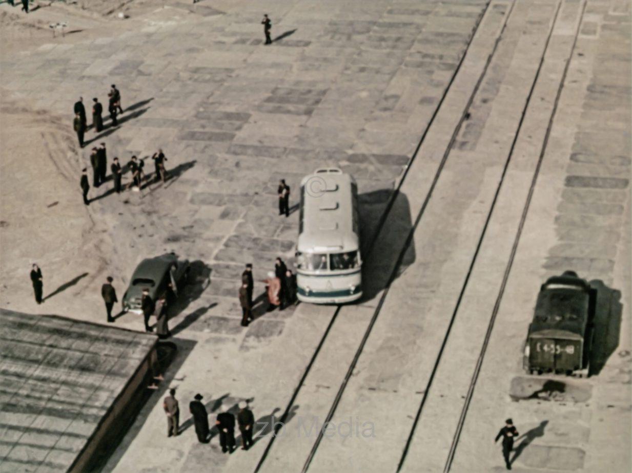 Raumfahrt. Juri Gagarin an Startrampe
