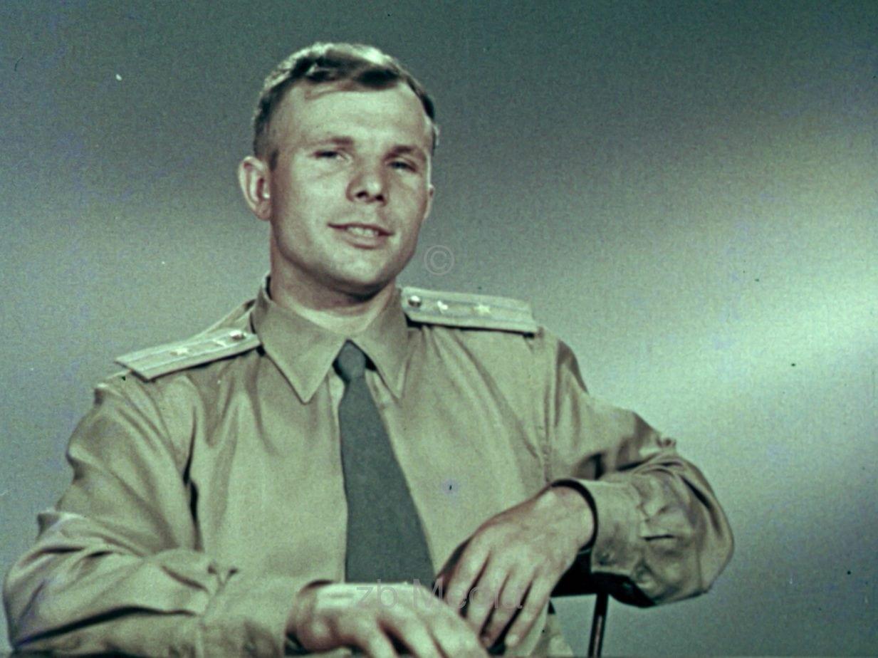 Juri Gagarin in Fernsehstudio