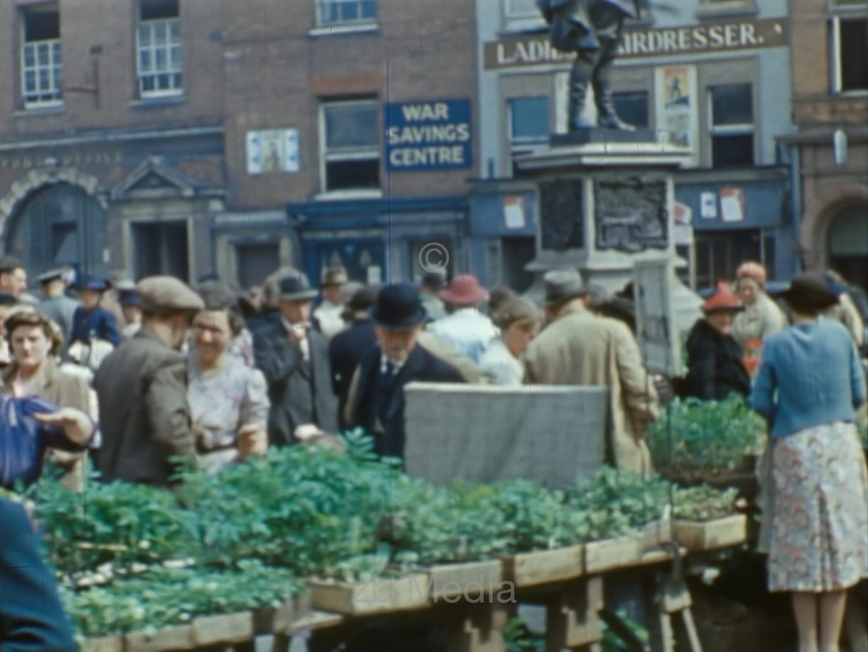 Marktplatz, Südengland 1944