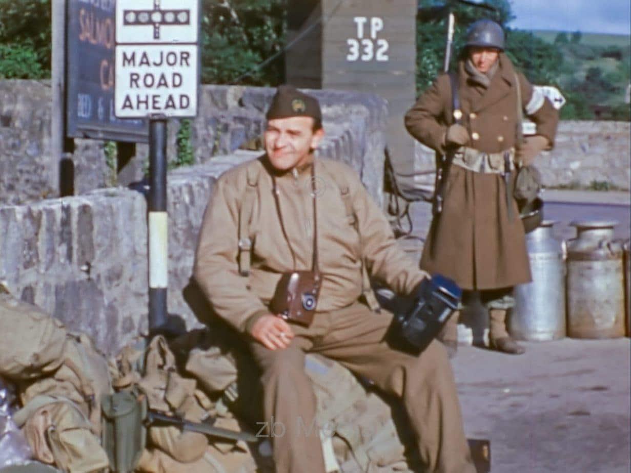 Kontrollposten in Südengland im Juni vor dem D-Day