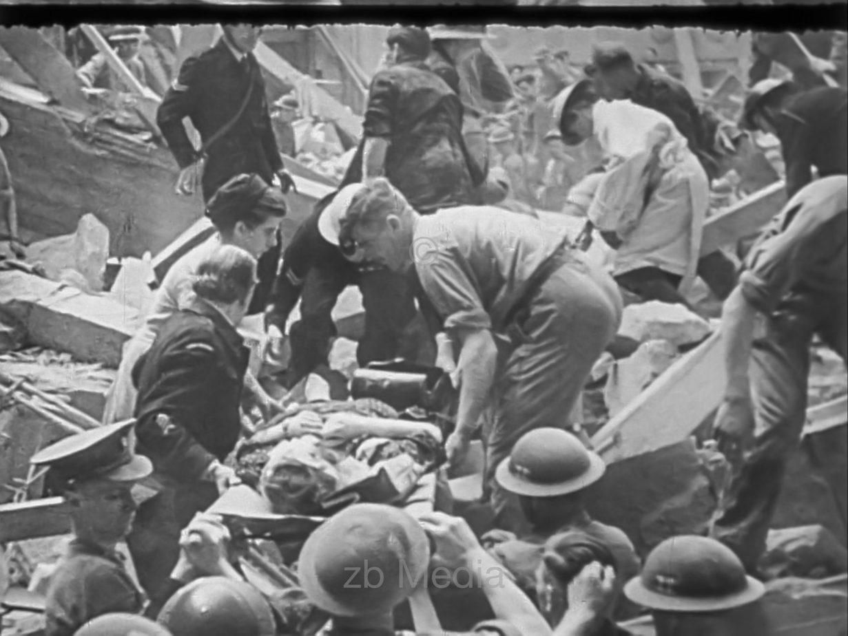 Bombenschaden in London 1944