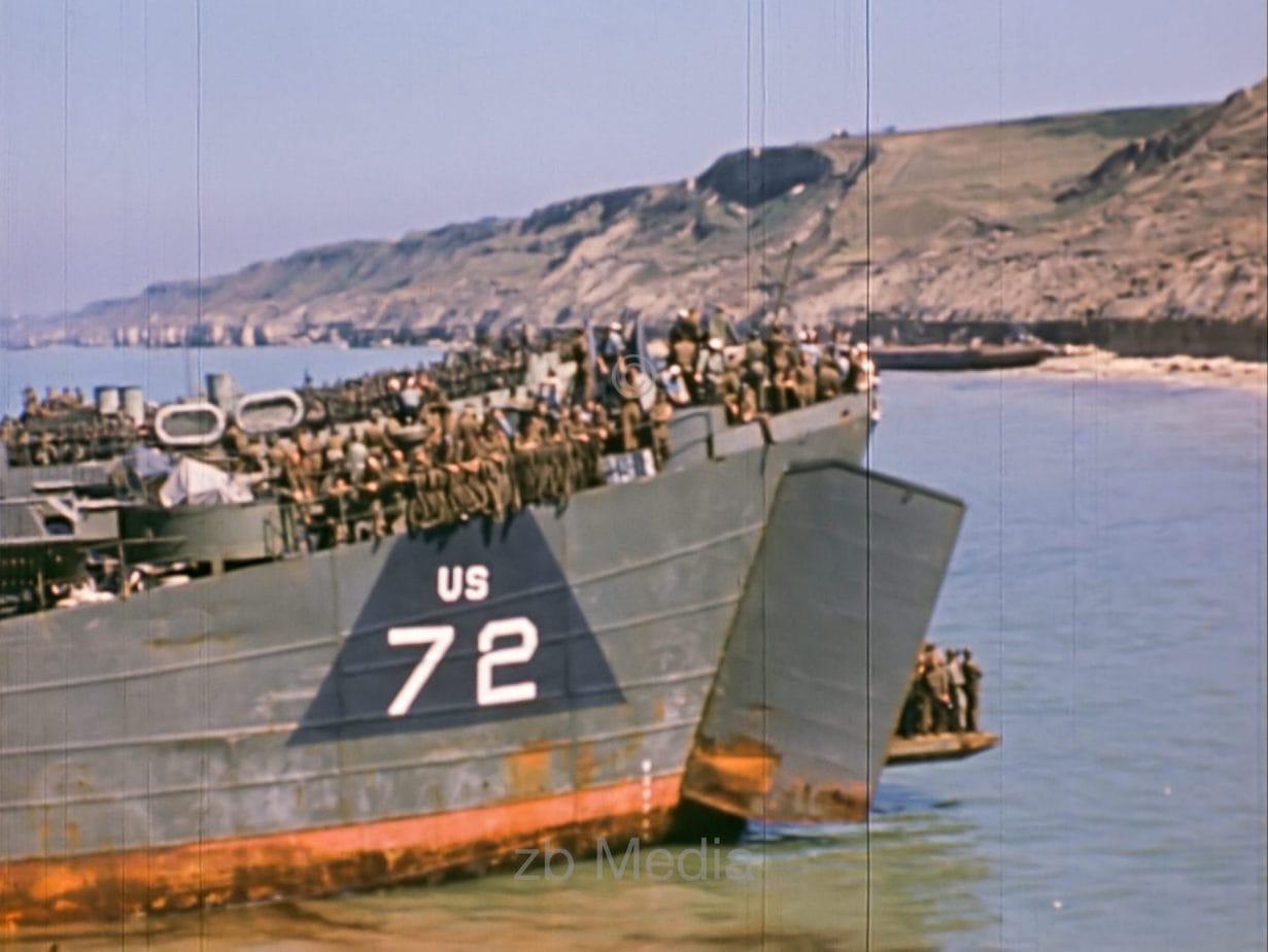 US landing ships, D-Day 1944