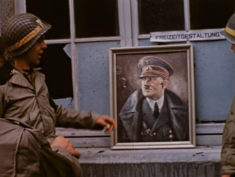 Hitler picture as dart target 1944