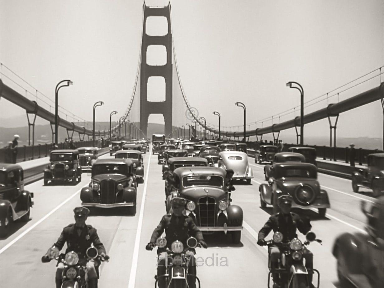 Opening Golden Gate Bridge