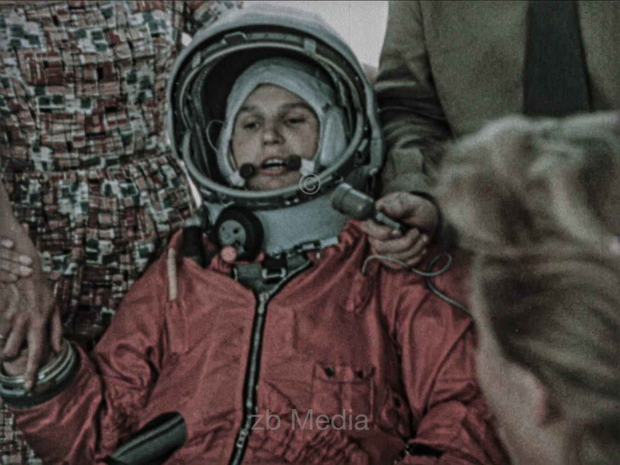 Verabschiedung von Tereschkowa bei Vostok 6 Flug