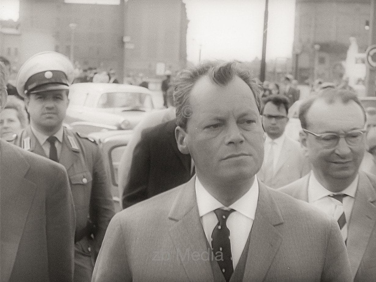 Willy Brandt at Berlin Wall 1961