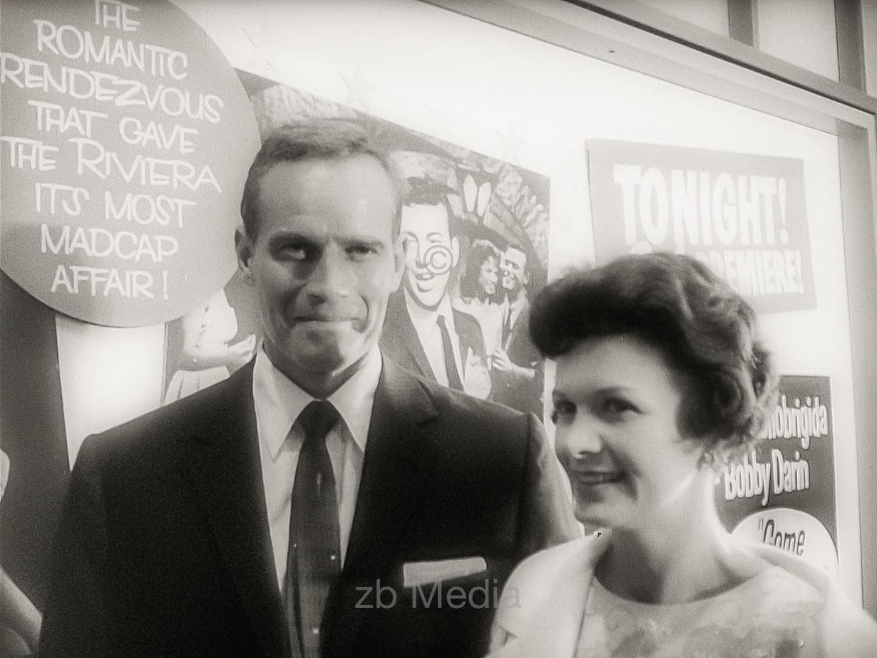 Charlton Heston, Premiere von Come September in Hollywood