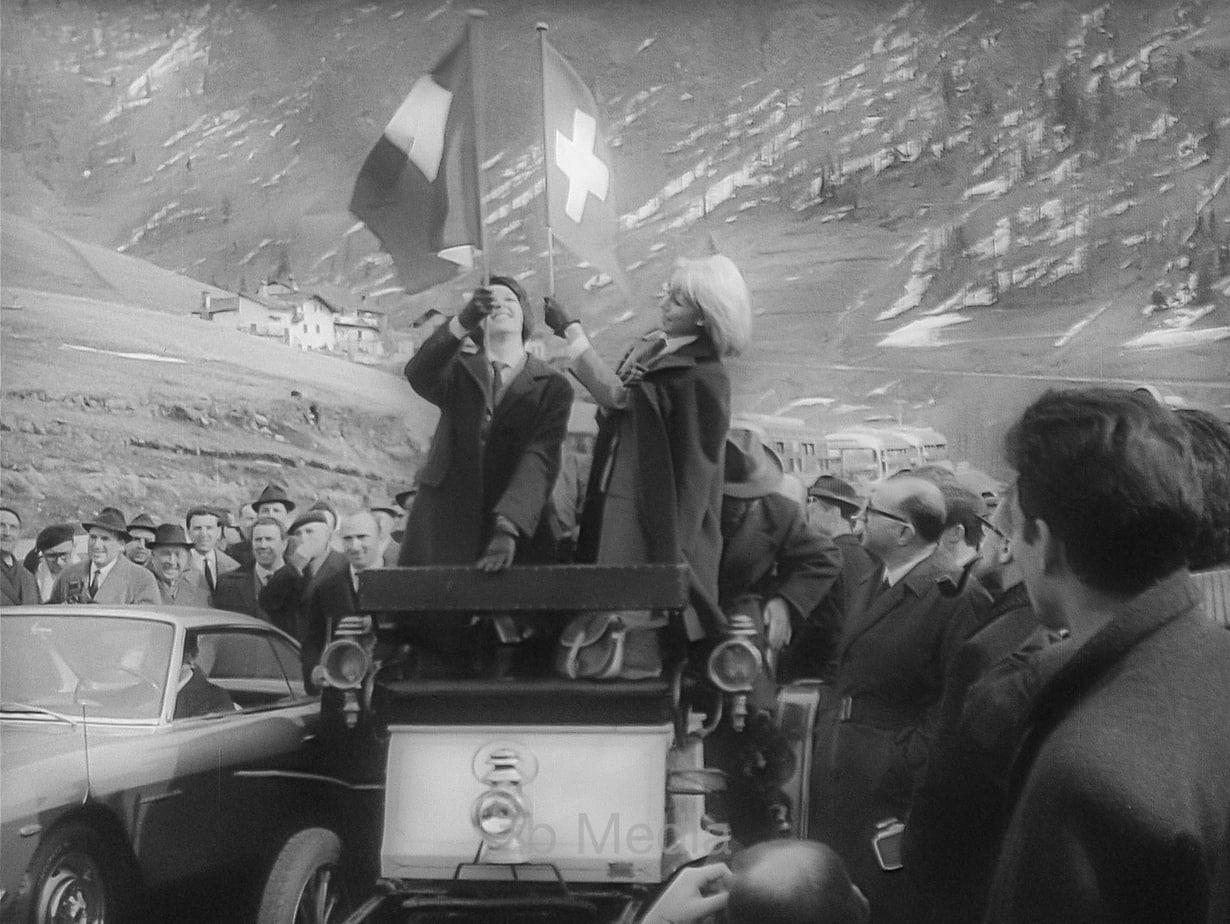 Eröffnung Großer Sankt Bernhard Tunnel 1964