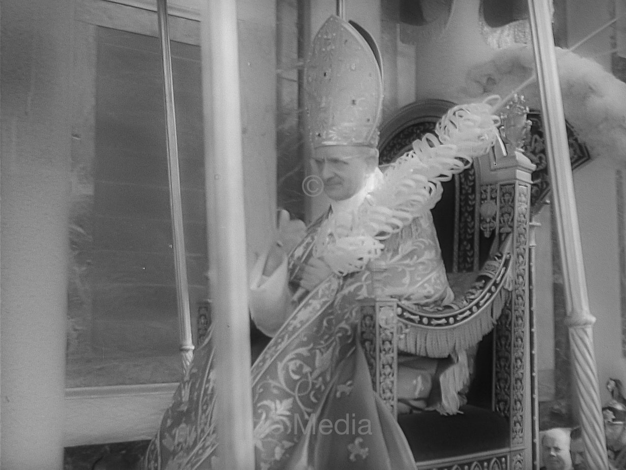 Papst Paul VI - Prozession in Rom