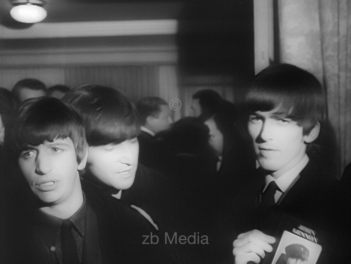 Ringo Starr, George Harrison und John Lennon Variety Club 1964