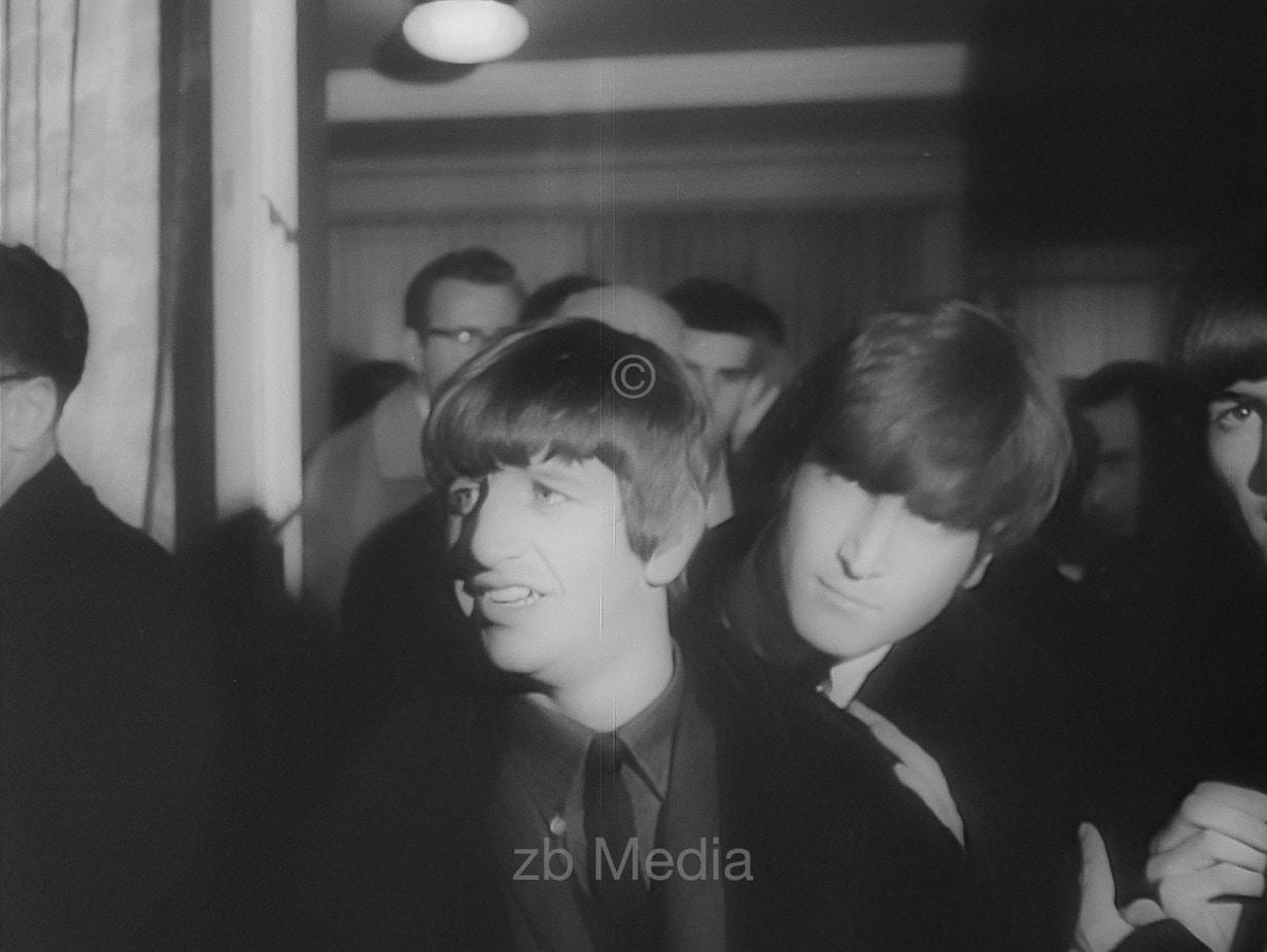Ringo Starr und John Lennon Variety Club 1964