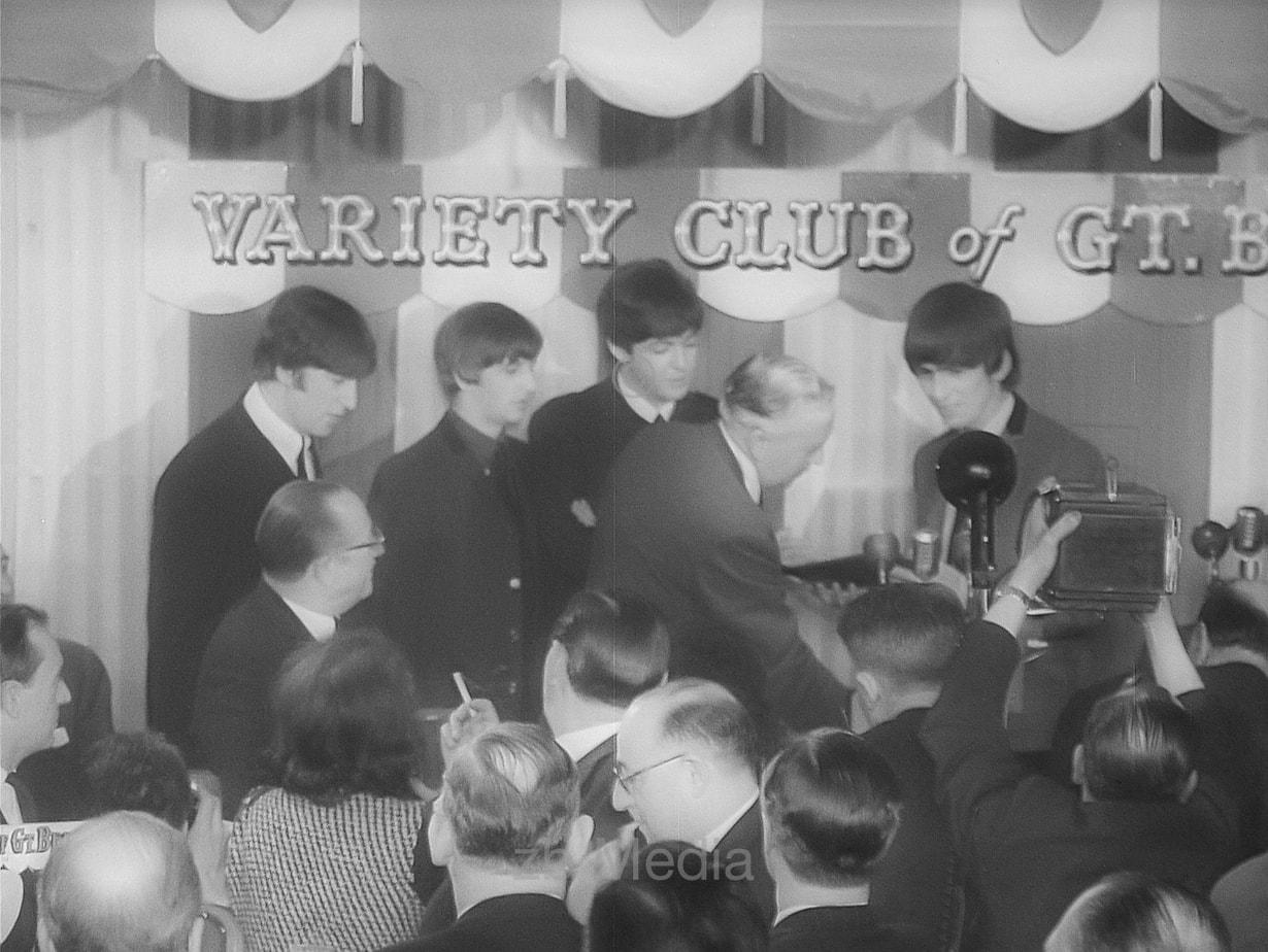 Die Beatles mit Harold Wilson Variety Club 1964