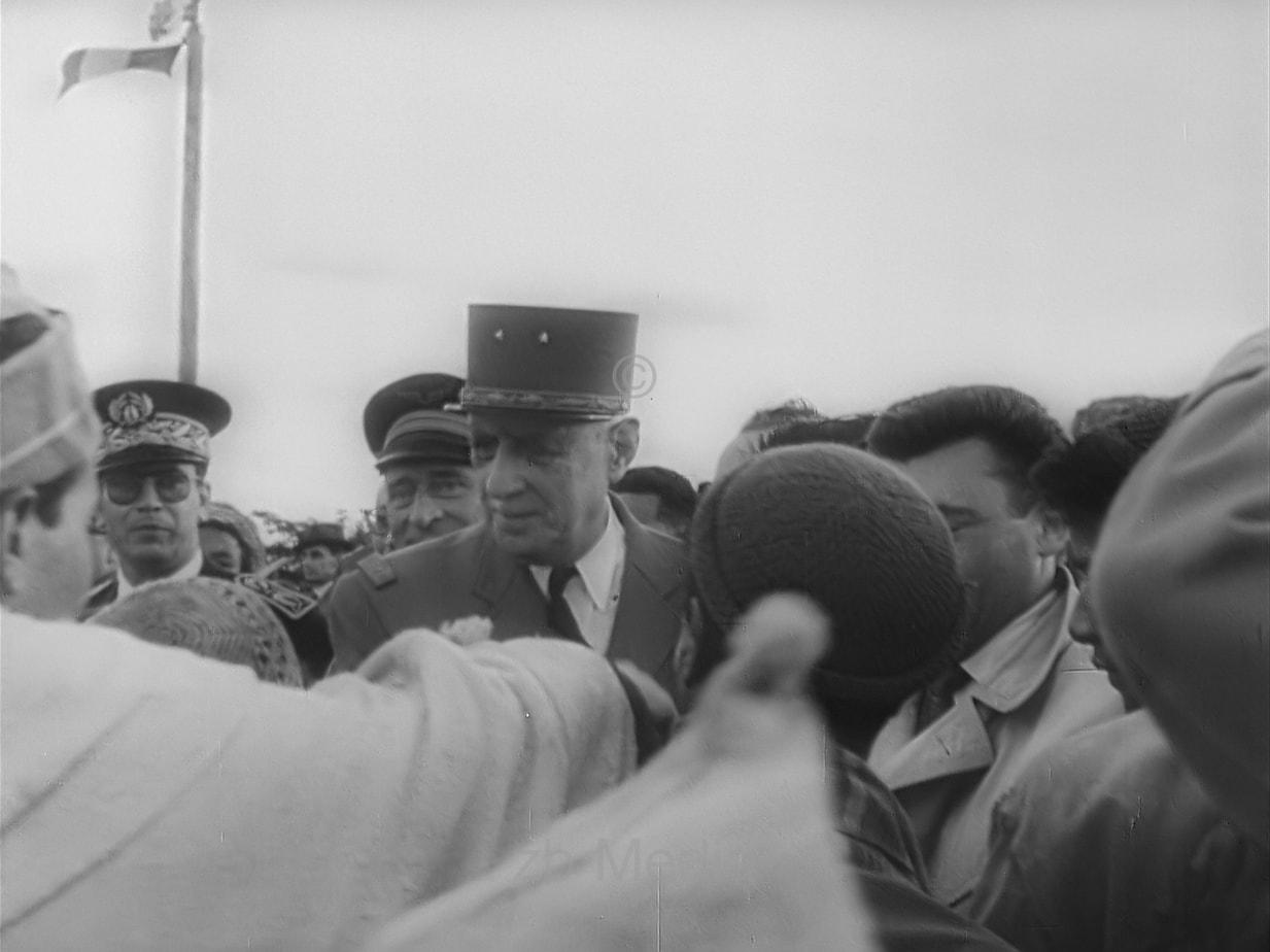 Charles de Gaulle in Algerien 1960