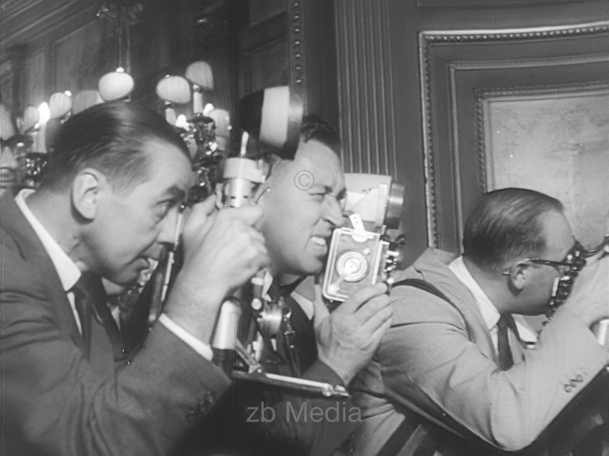 Pressefotographen in Kairo 1960