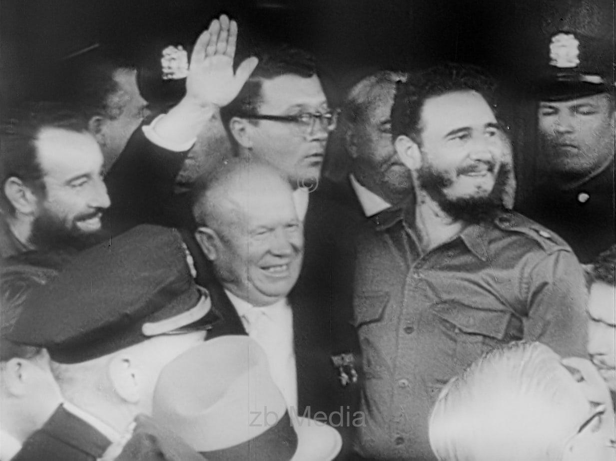 Fidel Castro und Nikita Chruschtschow 1960