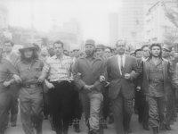 Fidel Castro auf Demonstration in Cuba