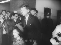 John und Jacqueline Kennedy nach Geburt ihres Sohns