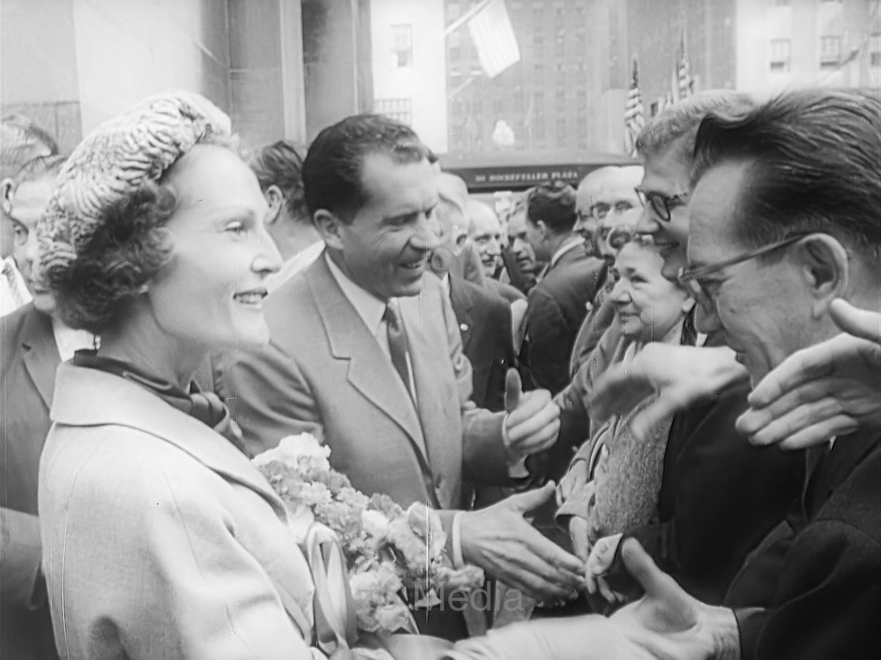 Richard Nixon and Patricia Nixon, presidential election 1960