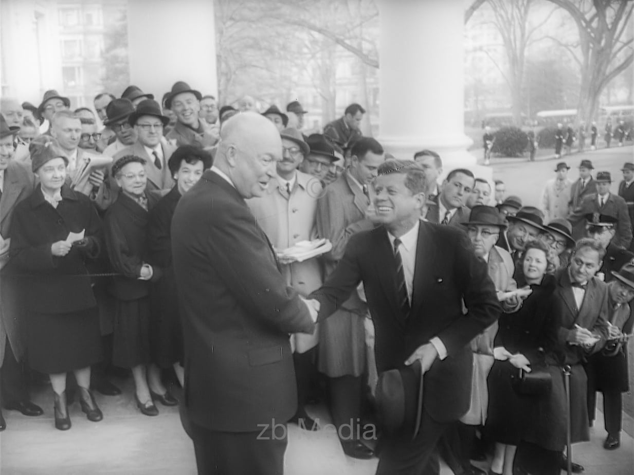Gewählter Präsident John F. Kennedy with Dwight D. Eisenhower