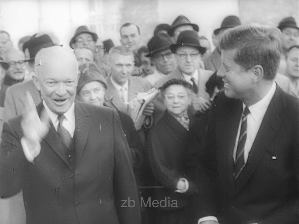President Elect John F. Kennedy with Dwight D. Eisenhower