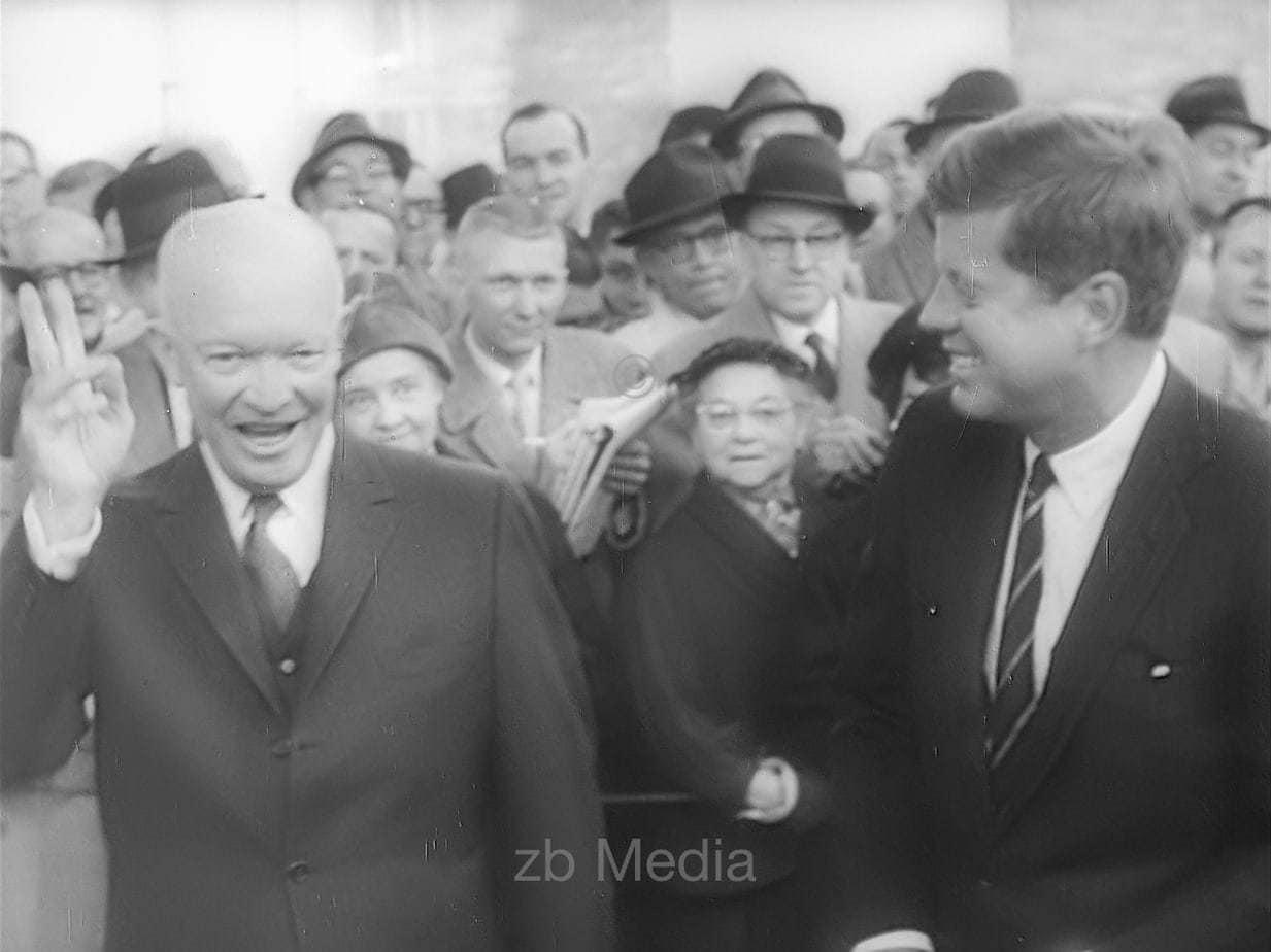 President Elect John F. Kennedy with Dwight D. Eisenhower