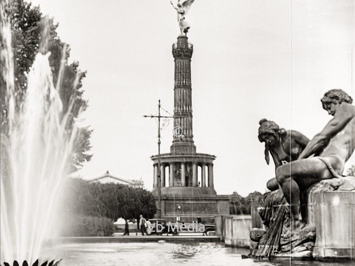 Siegessäule in Berlin 1930