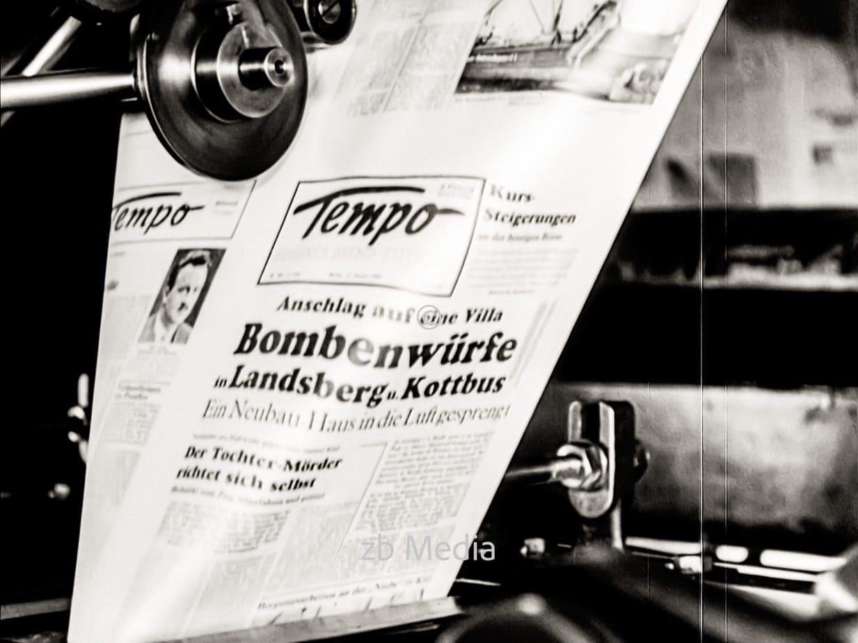 Zeitungsdruck in Berlin 1930