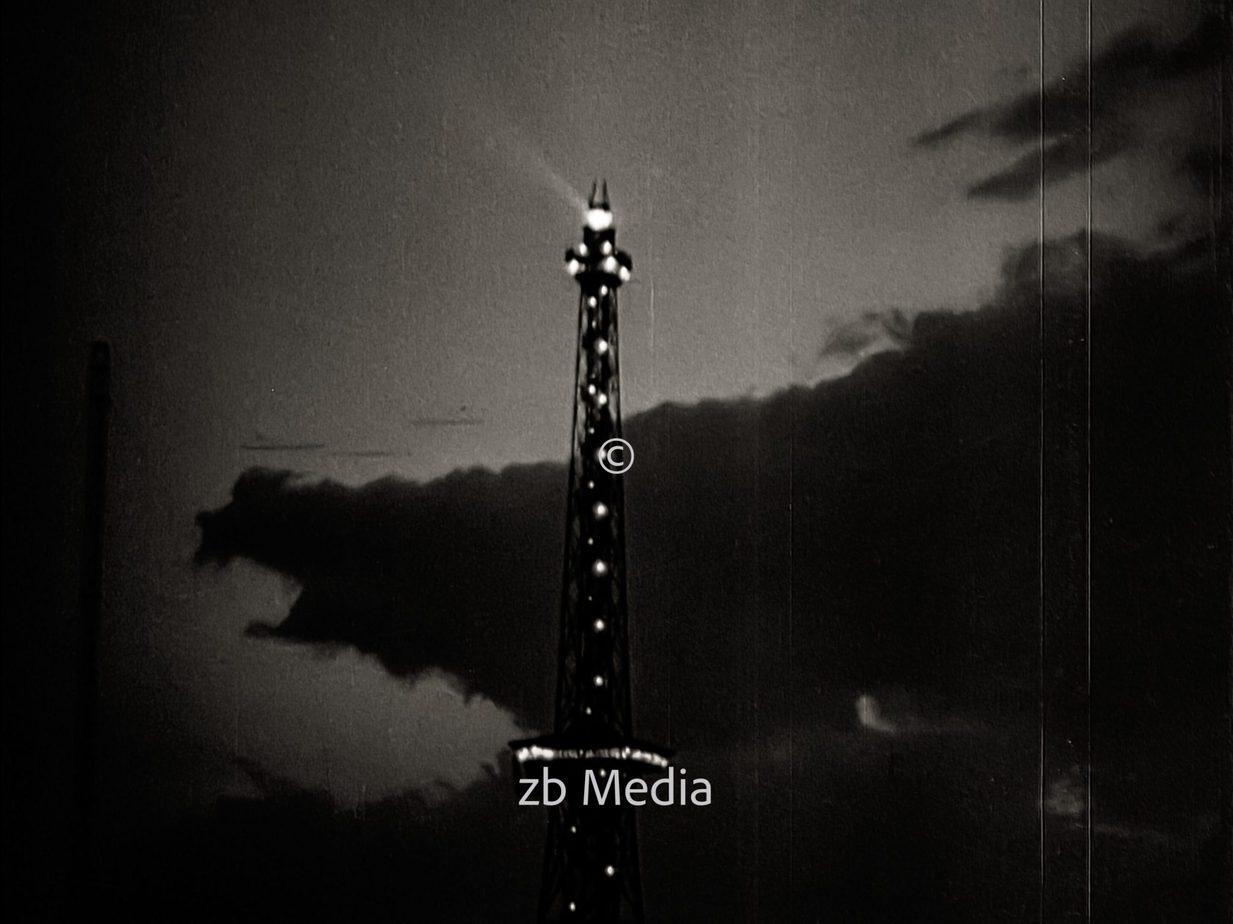 Funkturm bei Nacht in Berlin 1930