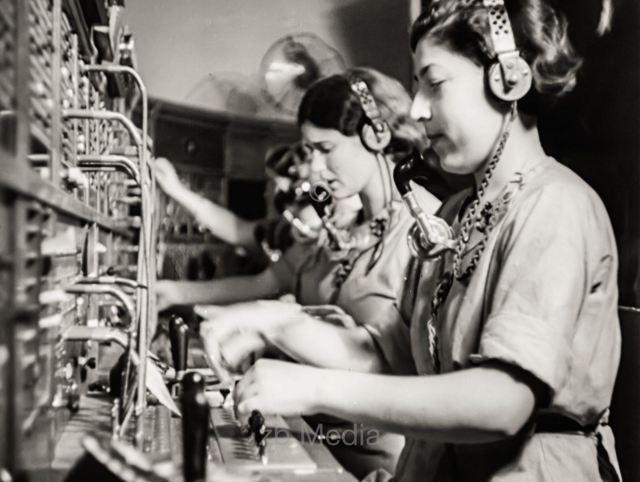 Telefonzentrale in Tel Aviv 1937