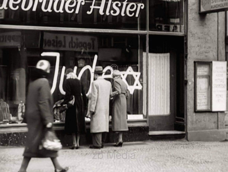 Antisemitische Boykottaktion Berlin 1933