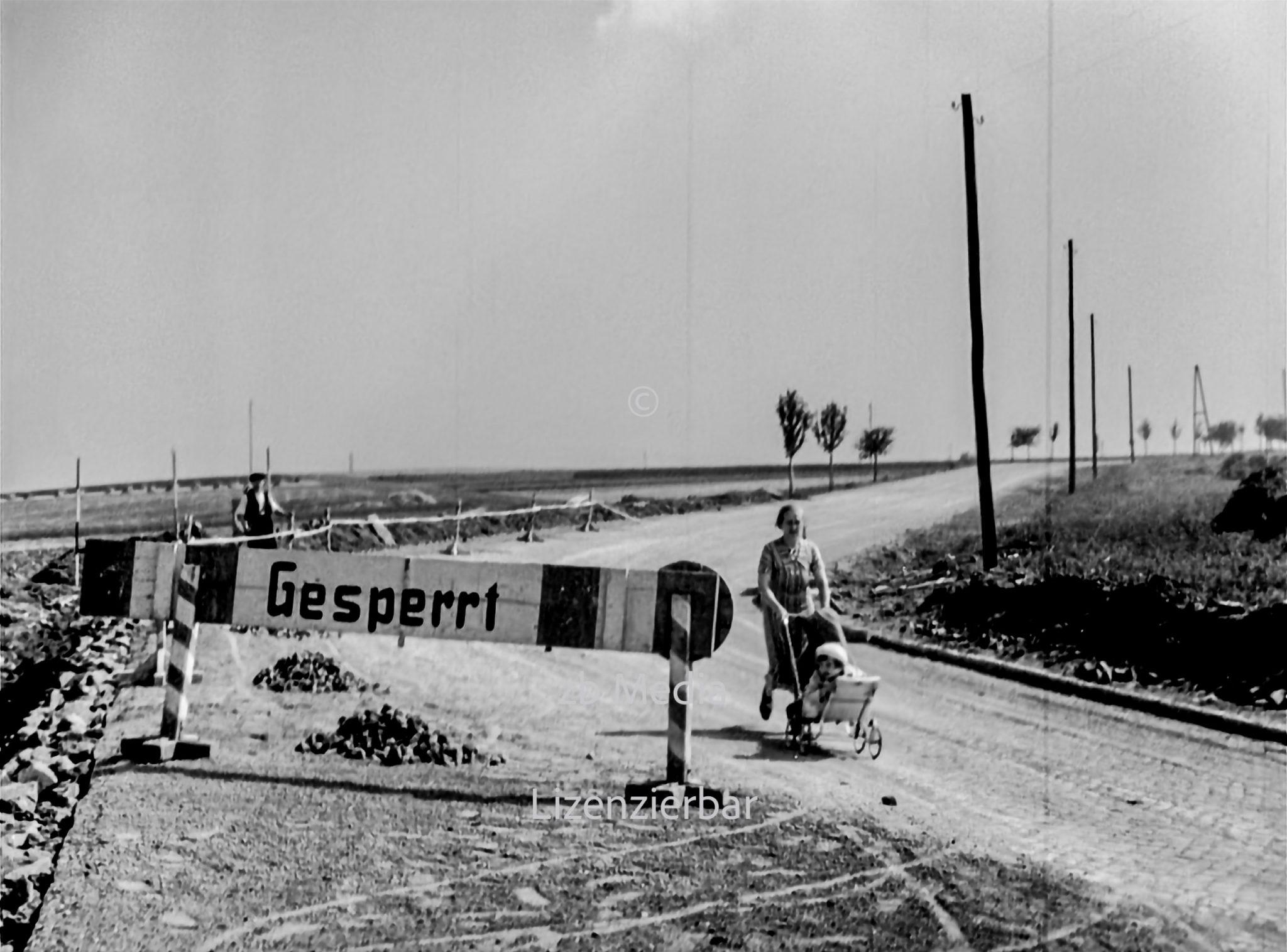 Straßenbau in Deutschland 1937
