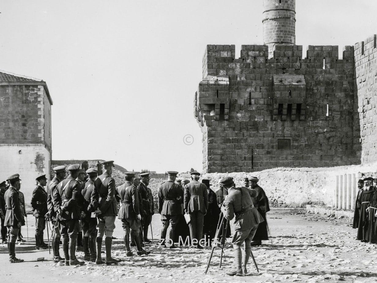 Feldmarschall Allenby empfängt die Honoratioren von Jerusalem 1917