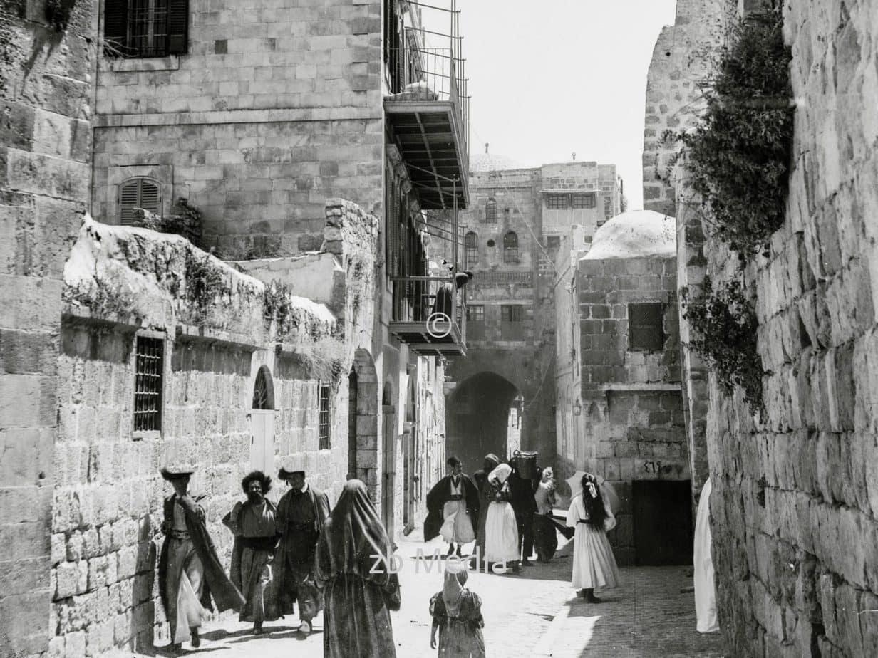 Altstadt von Jerusalem um 1930