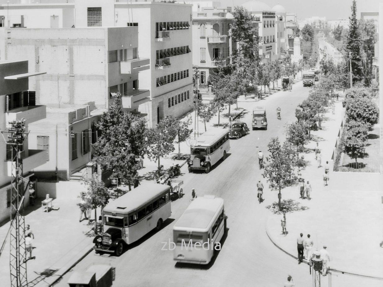 Stadtbild - Allenby Street in Tel Aviv 1935