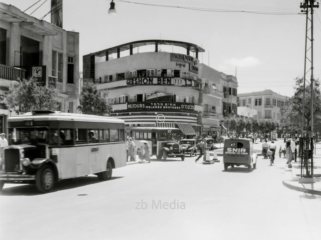 Stadtbild - Allenby Platz in Tel Aviv 1935