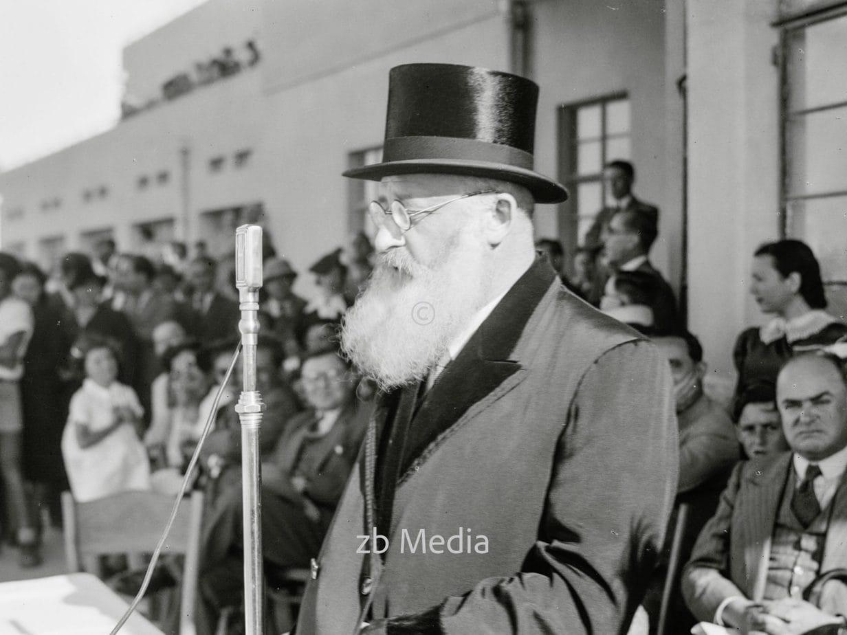 Dr. Herzog, Oberrabbiner von Palästina