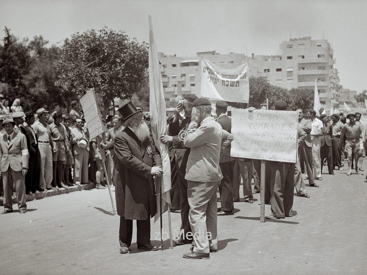 Jüdische Protestdemonstrationen gegen das Weißbuch Palästina 1939
